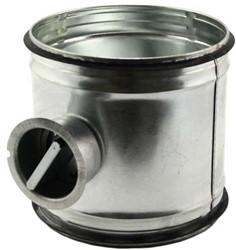 Handbediende regelklep Ø150mm voor spiraalbuis