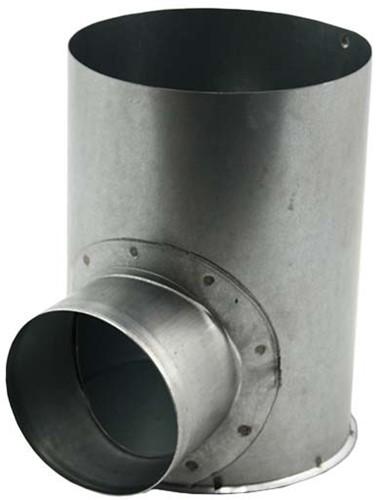 Gegalvaniseerde instortpot Ø125mm met opening - enkele aftakking Ø80mm