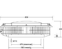 Itho - dakventilator CAS ECO-fan 1100 230/400V - 2100m3/h-2