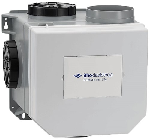 Itho Daalderop CVE-S S CO2 Optima Inside HP 415m3/h + inbouwde RV vochtsensor en CO2 sensor - perilex stekker