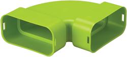 Ubbink bocht horizontaal plat ovaal 50x100 (zonder dichting)
