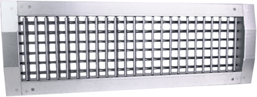 Kanaalrooster dubbel instelbaar 1025x225 mm voor spirobuis diameter 630-1400 mm