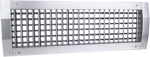 Kanaalrooster dubbel instelbaar 1225x75 mm voor spirobuis diameter 160-400 mm