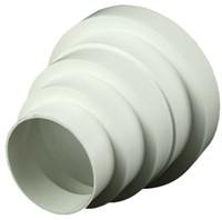 Kunststof ventilatie verloop universeel voor diameter 80 t/m 150 mm VA80-1
