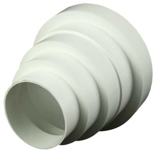 Kunststof ventilatie verloop universeel voor diameter 80 t/m 150 mm VA80