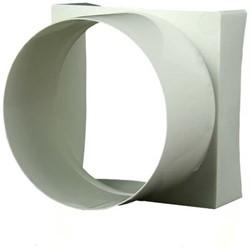 Kunststof verloopstuk vierkant-naar-rond 90x90/diameter: 100 VA90