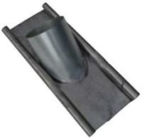 WTW HR Loodslab / loodpan voor dakdoorvoer 125mm 15 t/m 60 graden-1