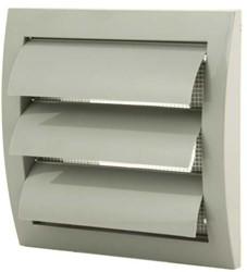 Lamellenrooster overdruk ventilatierooster 150x150 diameter: 100 grijs - ND10ZP