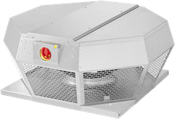 Ruck dakventilator horizontaal met EC motor en werkschakelaar 6230m³/h - DHA 450 ECP 30