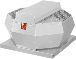Ruck dakventilator verticaal met EC motor, werkschakelaar en constante drukregeling 610m³/h - DVA 190 ECCP 30