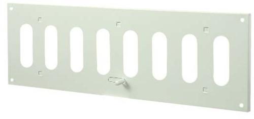 Metalen instelbaar rechthoekige sleuf rooster 300x100 wit - MR3010R