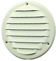 Metalen ventilatierooster rond Ø 125mm wit - MR125