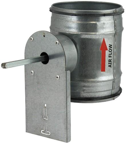 Motorbediende regelklep Ø100mm voor spiraalbuis