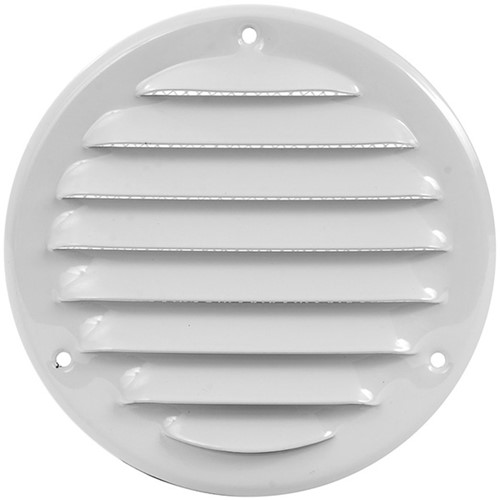 Metalen ventilatierooster rond Ø 100mm wit - MR100