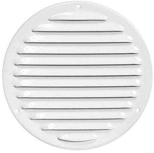 Metalen ventilatierooster rond Ø 160mm wit - MR160