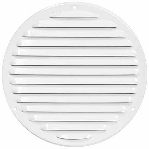 Metalen ventilatierooster rond Ø 200mm wit - MR200