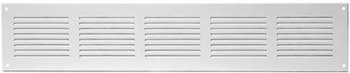 Metalen rechthoekige sleuf rooster 500x100 wit - MR5010