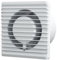 Badkamer ventilator Energiezuinig en Stil met stekker en schakelaar diameter 125 mm wit - 125PS-1