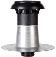 Platdak ontluchting dubbelwandig met kunststof kap Ø 110-125mm-1