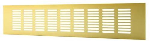 Plintrooster aluminium - goud L=500mm x H=120mm - RA1250G