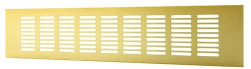 Plintrooster aluminium - goud L=500mm x H=60mm -RA650G