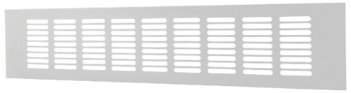 Plintrooster aluminium - wit L=500mm x H=100mm - RA1050