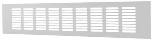 Plintrooster aluminium - wit L=500mm x H=40mm -RA450