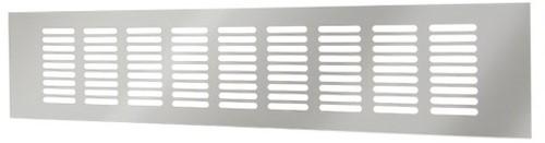 Plintrooster aluminium - zilver L=1600mm x H=100mm - RA10160S