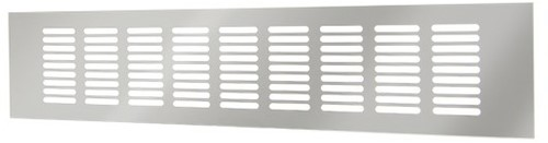 Plintrooster aluminium - zilver L=400mm x H=60mm -RA640S