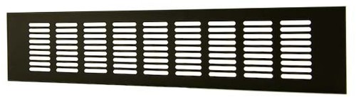 Plintrooster aluminium - zwart L=400mm x H=60mm -RA640B