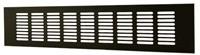 Plintrooster aluminium - zwart L=500mm x H=100mm - RA1050B-1