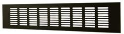 Plintrooster aluminium - zwart L=500mm x H=40mm -RA450B