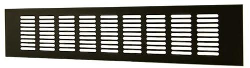 Plintrooster aluminium - zwart L=500mm x H=60mm -RA650B