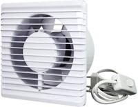 Badkamer ventilator Energiezuinig en Stil met stekker en schakelaar diameter 125 mm wit - 125PS-2