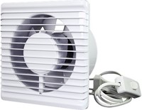 Badkamer ventilator Energiezuinig en Stil met Stekker en Schakelaar diameter 100 mm wit - 100PS-2