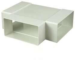 Rechthoekig kunststof T-stuk 110x55 - KT