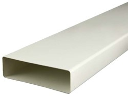 Rechthoekig kunststof ventilatiekanaal 220X55mm L=1 meter - K25-1