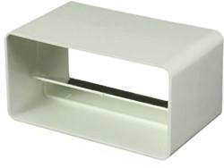 Rechthoekige kunststof terugslagklep 110x55 - KV