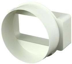 Rechthoekige kunststof verloop Ø100mm - 110x55 - KSD1