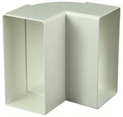 Rechthoekige kunststof verticale 90° bocht 220X55mm - KLV25-90