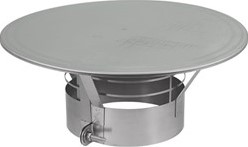 Regenkap met gaas diameter  500 mm I316L (D0,8)