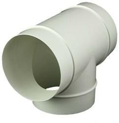 Rond kunststof T-stuk diameter: 100 mm AT100