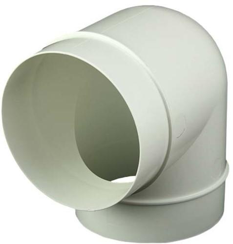 Ronde kunststof 90 ° bocht diameter: 125 mm 125-90