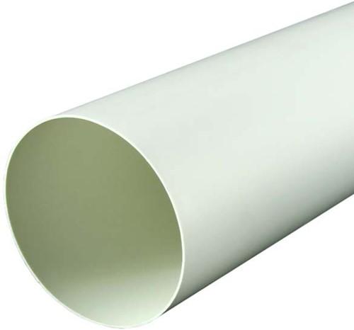 Ronde kunststof ventilatiebuis Ø125mm L=1 meter 125-1