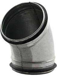 Ronde spiraal bocht diameter 125 mm voor spiraalbuis (45 graden)