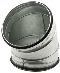 Ronde spiraal bocht diameter 150mm voor spiraalbuis (45 graden)