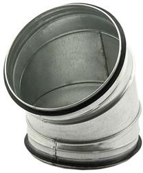 Ronde spiraal bocht diameter 160 mm voor spiraalbuis (45 graden)