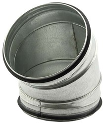 Ronde spiraal bocht diameter 200 mm voor spiraalbuis (45 graden)
