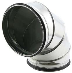 Ronde spiro bocht 90° Ø 160mm voor spiraalbuis