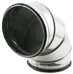 Ronde spiro bocht 90° Ø 180mm voor spiraalbuis
